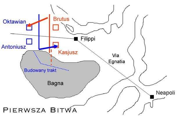 Phase I of battle of Philippi