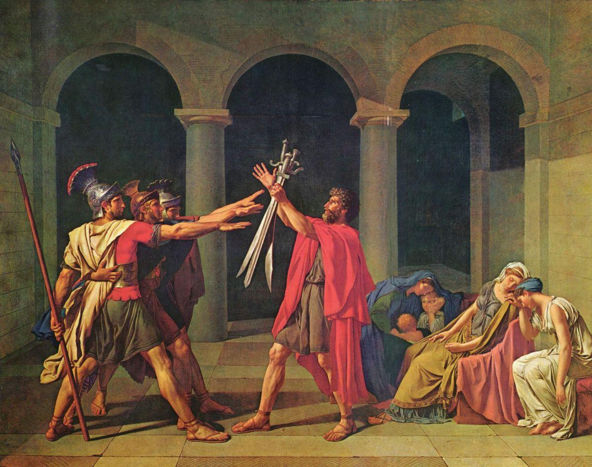 Przysięga Horacjuszy, Jacques Louis David