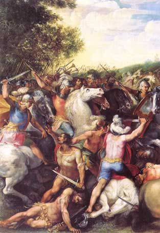 Tullus Hostiliusz pokonuje armię Fidenatów i Wejentów