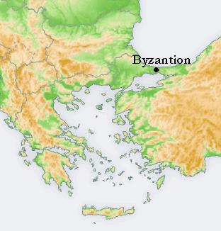 Lokalizacja Bizancjum