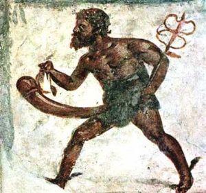 Fresk z Pompejów ukazuje nam boga Merkurego z olbrzymim penisem