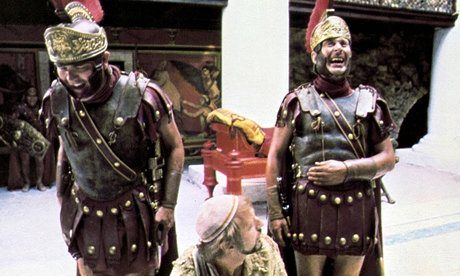 A scene from Monty Python: Life of Brian