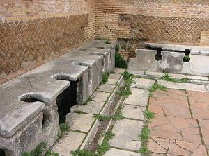 Public latrines (<em>latrinae</em>) in Ostia