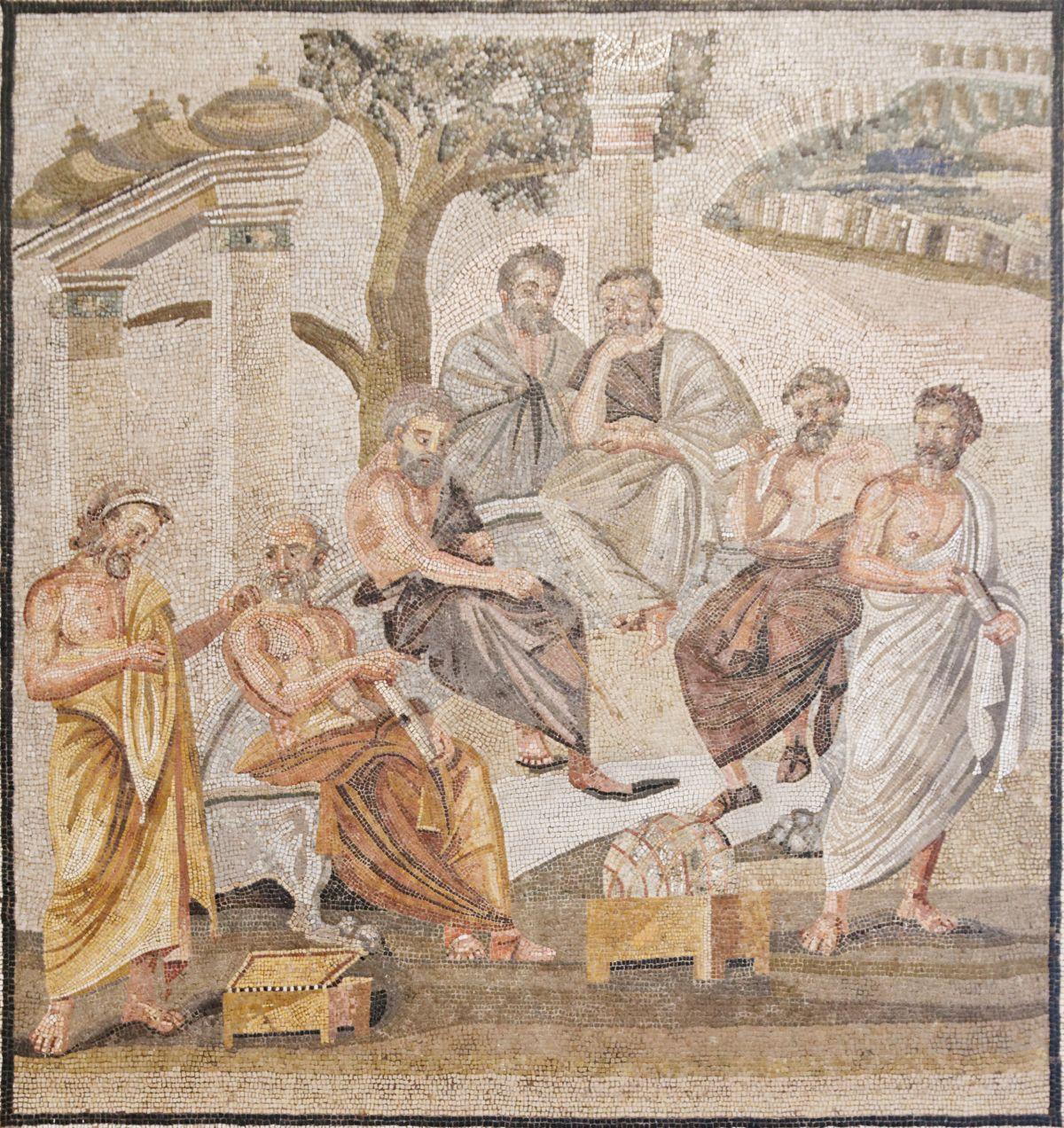 Mozaika z Pompejów ukazująca Akademię Platona