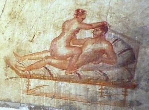 Sexual intercourse (wall painting in Pompeii)