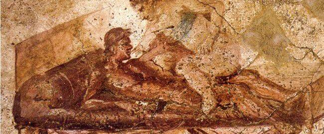 Malowidło ścienne odryte w pompejańskim lupanarze