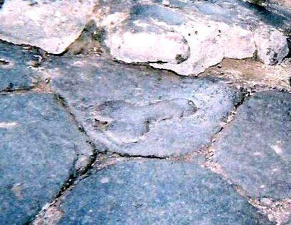Phallus in the street of Pompeii