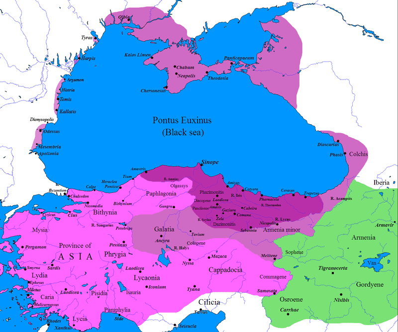 Mapa Królestwa Pontu