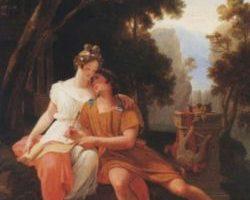 Auguste Jean Baptiste Vinchon,Propercjusz i Cynthia w Tivoli