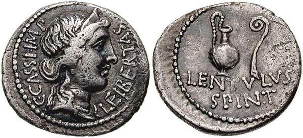 Denar z wizerunkiem Kasjusza