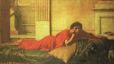 The remorse of the Emperor Nero after the murder of his mother, John William Waterhouse