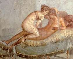 Fresk przedstawiający akt miłosny