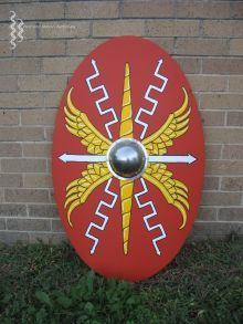 Oval shield of the Roman legionary