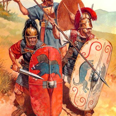 Roman soldiers during the Punic Wars
