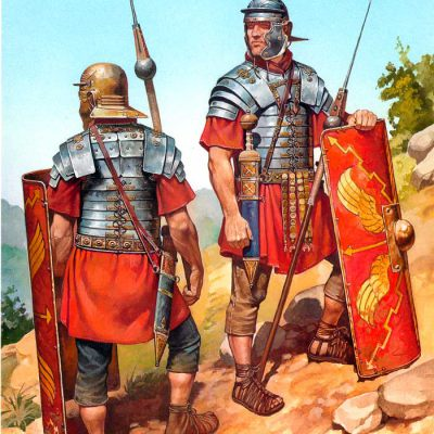 Roman legionaries during the time of Pax Romana