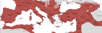 Roman Empire at time of its greatest prosperity