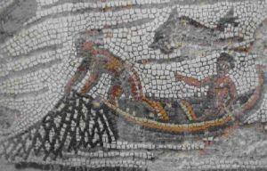 Mozaika rzymska ukazująca rybaków w czasie połowu
