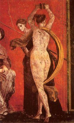 Naked dancer (fresco in Pompeii)
