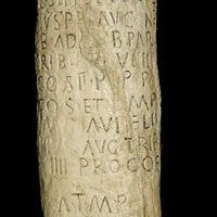 Roman milestone from 201 CE