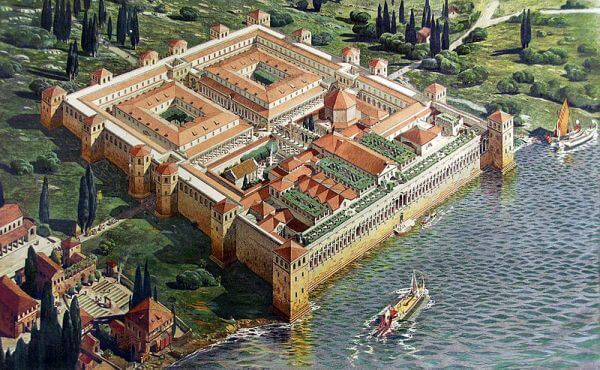 Reconstruction of Diocletian's Palace in Split