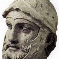 Głowa partyjskiego wojownika z II wieku p.n.e.