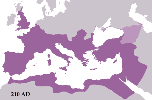 Roman Empire in 210 CE