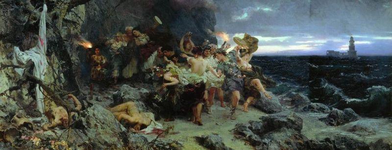 Henryk Siemiradzki, Orgia na Capri