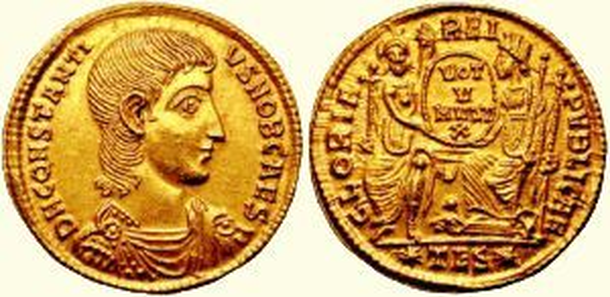 Moneta cesarza Konstancjusza Gallusa