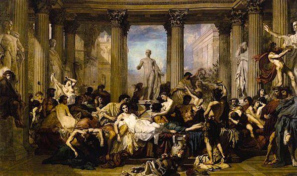 A feast during Saturnalia