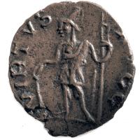 Virtus ukazana na galijskiej monecie