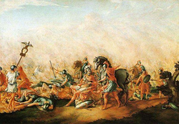Śmierć Emiliusza Paulusa, John Trumbull