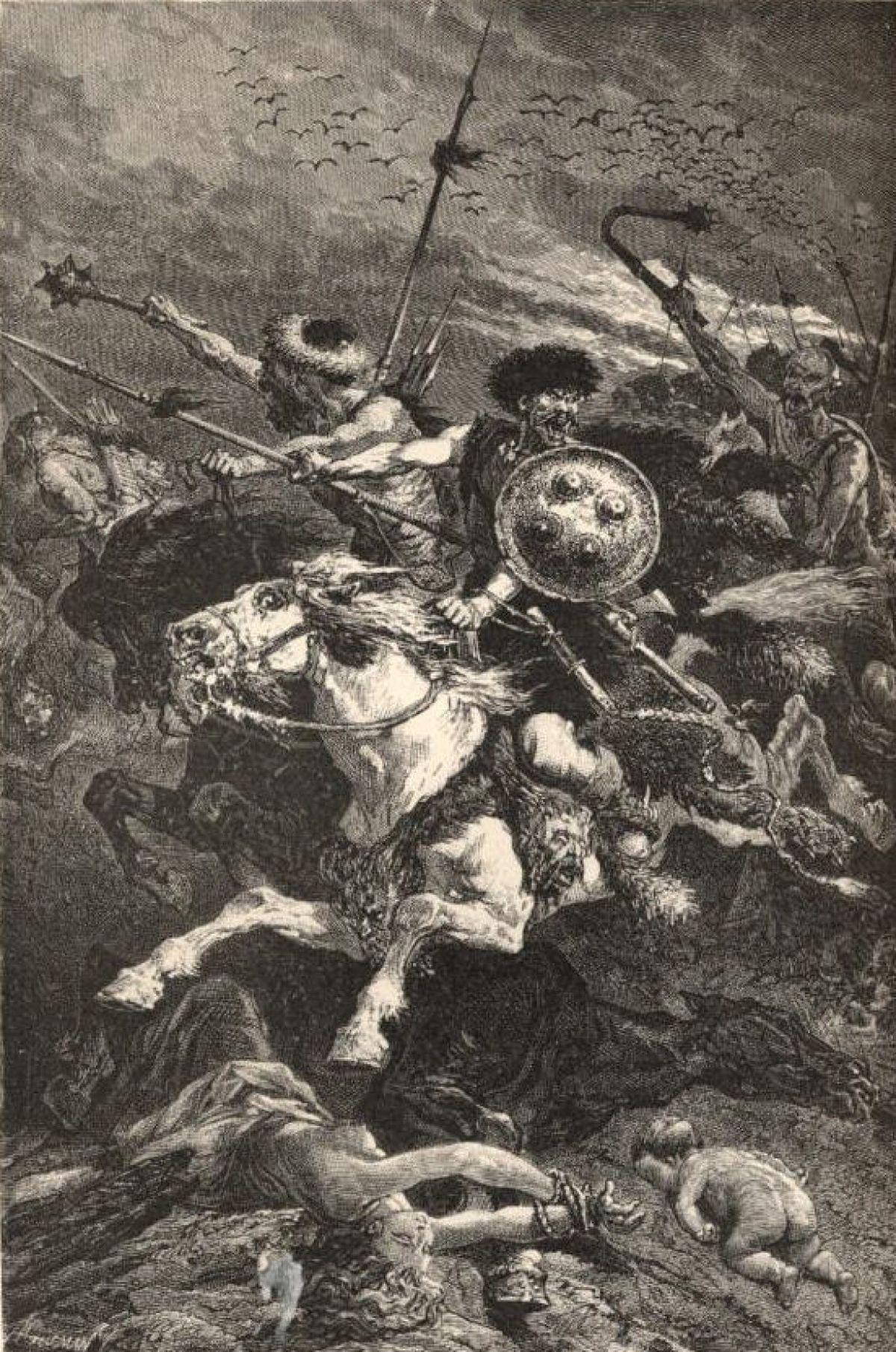 Hunowie podczas bitwy na Polach Katalaunijskich, Alphonse de Neuville