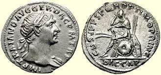 Moneta cesarza Trajana