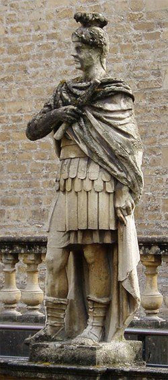Statue of Julius Agrykoli in Bath (England)