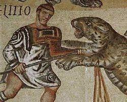 Bestiarii walczący z dzikim zwierzęciem