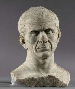 Caesar's marble bust dated from 49 to 46 BCE