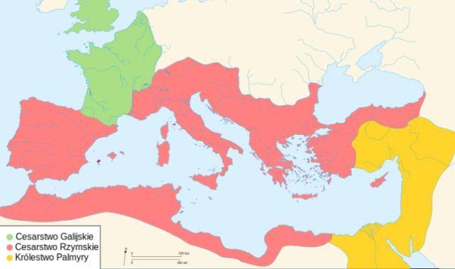 Map of the Roman Empire in 271 CE