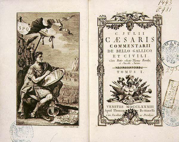 Łacińskie wydanie O wojnie galijskiej