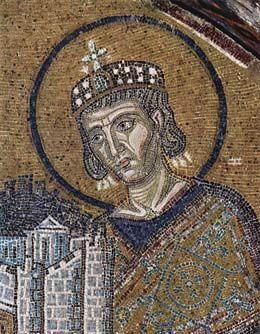 Konstantyn Wielki, mozaika w Hagia Sofia