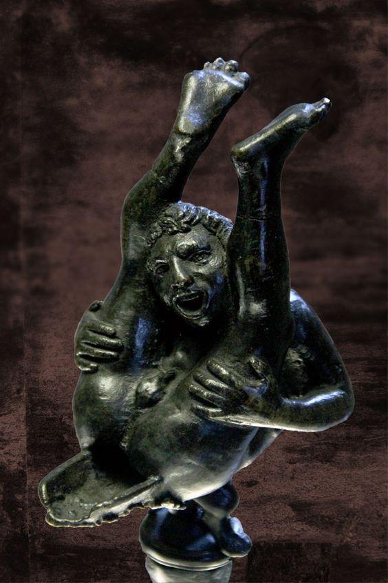 Interesująca rzymska lampa oliwna
