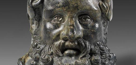 Rzymskie balsamarium w kształcie głowy Herkulesa