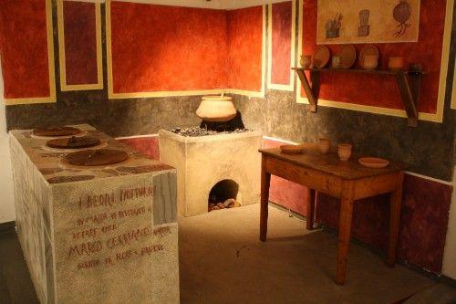 Rekonstrukcja rzymskiego sklepu oferującego picie i jedzenie