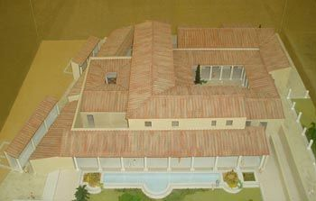Model Roman house (domus)