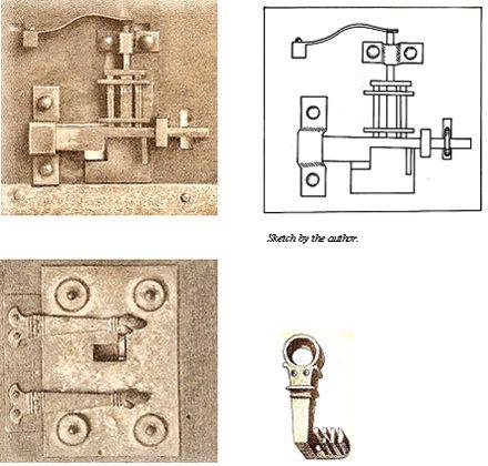 Zamki bębenkowe z wczesnych odkryć w Pompejach