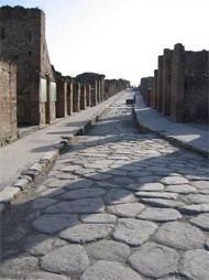 Roman road in Pompeii