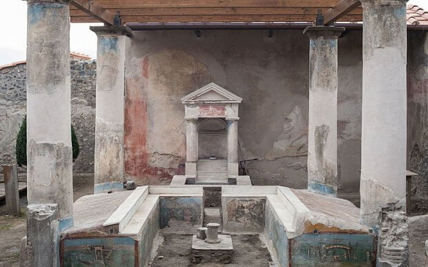 Miejsce obecnie nazywane Fullonica di Stephanus