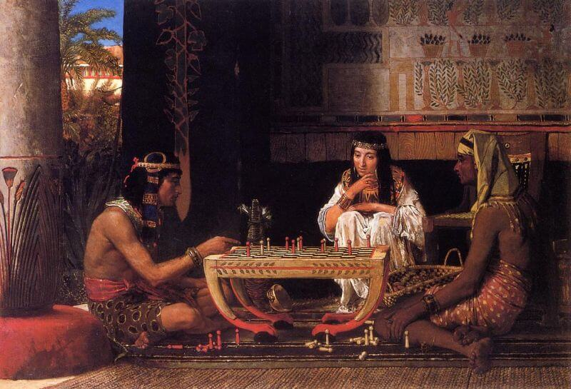 Egyptian chess players