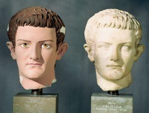 Painted head of Caligula