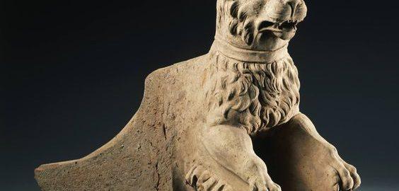 Rzymski rynna odpływowa w postaci psa