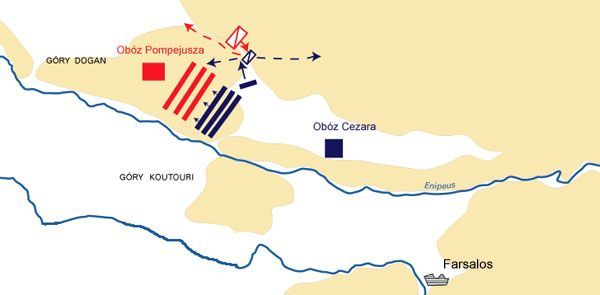 Plan of the Battle of Farsalos